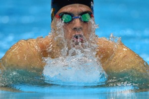 Hungary's Daniel Gyurta competes in the