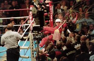 Paraglider James Miller, 1993 WBA/IBF Heavyweight Title
