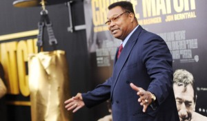 "NEW YORK, NY - DECEMBER 16: Former professional boxer Larry Holmes attends the ""Grudge Match"" screening benefiting the Tribeca Film Insititute at Ziegfeld Theater on December 16, 2013 in New York City. (Photo by Dimitrios Kambouris/Getty Images)"