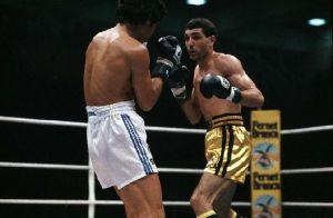 ©lapresse archivio storico sport pugilato anni '80 Patrizio Oliva nella foto: il pugile Patrizio Oliva contro Sacco